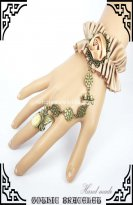 Retro Court Beige Rococo Ladies Bracelet and Ring