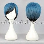 Harajuku Men Msn Short Hair Blue And Black Lolita Wigs