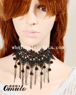 Women's Gothic Collar Choker Pendant Necklace for Cosplay Prom