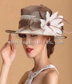 High-end British Style Real Feather Flower Elegant Ladies Kentucky Derby Hat