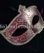 Double Color Crown Shaped Masquerade Mask with Glitter Details for Adult and Child