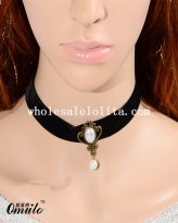 Black Fashion Pendant Necklace with Pearl