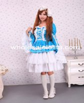 Cotton Blue Gothic Lolita Dress Girl Dress