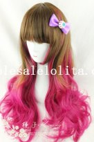 Mix-colored Japan Harajuku Party Girls Curly Wig