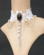 Gothic Black Diamond Lace Lolita Necklace MTN67