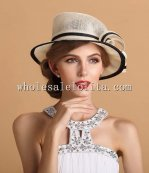 Noble & Fashion British Style Flax Formal Dress Hat