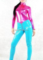 Light Purple & Blue PVC Catsuit for Female