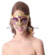Glitter Crown Shaped Venetian Masquerade Mask with Braiding