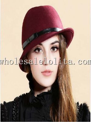Retro British Wool Bow Autumn Winter Fedora Hat