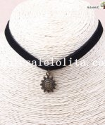 Hotsale Black Velvet Gothic Collar Choker Pendant Necklace for Women