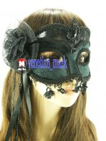 Mysterious Black Masquerade Mask & Nightclub & Carnival Performance &Halloween Mask