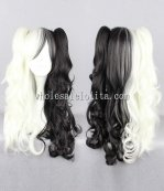 New Theory Of Projectile Broken Black And White Mix Long Hair Wig