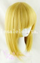 New Fashion Cosplay Party Short Straight Yellow Hair Heat Resistant Wig