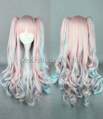 New Japanese Cosplay Lolita Wigs Mix Pink Lolita Long Hair For Ladies