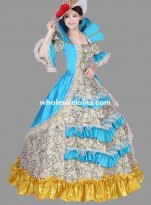 Historical Marie Antoinette Theme Party Dress Ball Gown Theatre Clothing N5