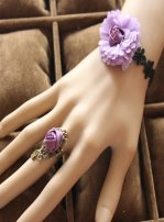 Gothic Purple Dream Style Lace Lolita Bracelet