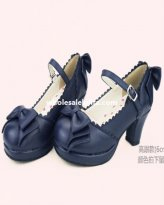 Japen Fashion Lolita Princess Sweet Bow Round Toe Shoes