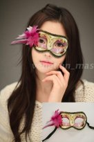 Manual Violet Golden Costume Party Mask