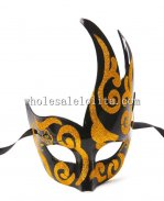Cross Color CignoVenetian Half Face Masquerade Masks for Adults