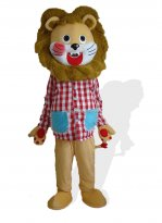 Adult Lion Mascot Costume in Clothing