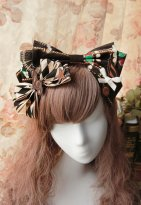 Cotton Big Bow Coffee Lolita Headdress