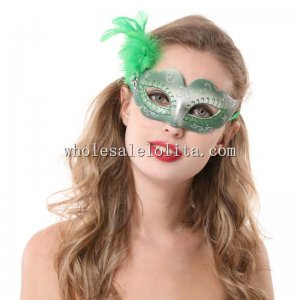Venetian Glitter Masquerade Masks with Feathers for Kids