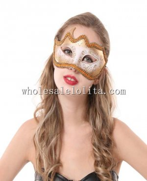 Half Face Glitter Braided Masquerade Mask for Cosplay and Parties