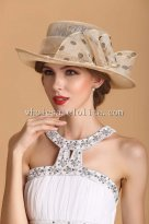 Elegant Khkai Sweet Bow Ladies British Hat Vacation Sun Hat