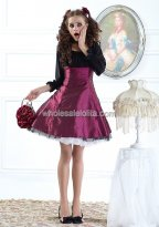 Purple Autumn Elegant Corset Waist Chiffon Lolita Dress