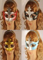 Budget Venetian Carnival Glitter Masquerade Masks for Adult and Child