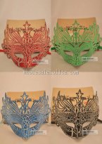 Budget Laser Cut Half Face Venetian Masquerade Mask for Adult and Child