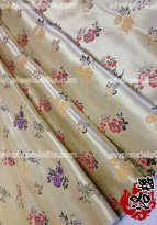 LY Bamboo Flower Brocade Fabric