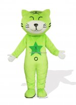 Green Plush Adult Tiger Mascot Costume