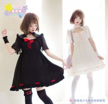 Lovely Chiffon Gothic Lolita Dress