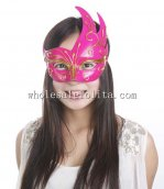 Party CignoMasquerade Masks with Gold Pattern Half Face Masks