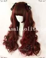 Party Girls Crimson Wavy Long Wig
