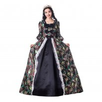 Historical Marie Antoinette Theme Party Dress Ball Gown Theatre Clothing N18