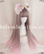 Hotsale Harajuku Mix-colored Cosplay Long Straight Full Hair Wig