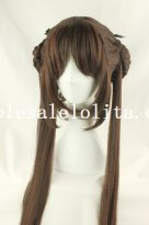 Cosplay Long Straight Brown Hair Role Play Wig