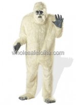 Adult White Plush Orangutan Halloween Costume
