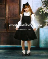 Cotton Black Buttons Gothic Cosplay Lolita Dress