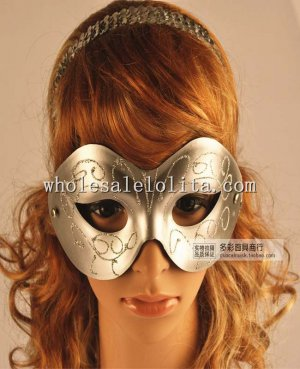 Venetian Halloween Cosplay Masquerade Mask with Glitter Details