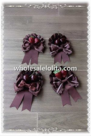 INFANTA Cherry/Starwberry Bow Brooch/Hair Clip