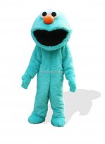 Blue Plush Adult Macrostomia Monster And Fantasy Costume