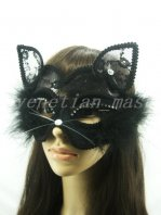 Christmas Party Hollow-out Catwoman Mask