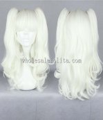 Cosplay Japanese Harajuku Lolita Wig White Twin Tail Hair