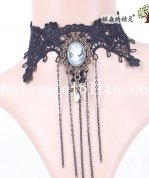 Royal Hotsale Black Lace Gothic Collar Choker Pendant Necklace for Women