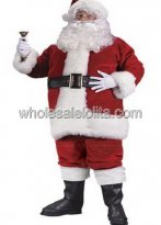 Deluxe Plush Santa Claus Costume of High Quality