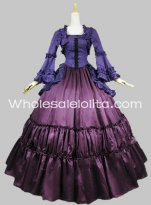 Historical Blue and Purple Victorian Inspired Dress Renaissance Faire Costume