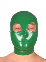 Latest Green Latex Hood with Eyes Nose Open No Mouth